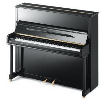Grotrian friedrich black polished upright piano