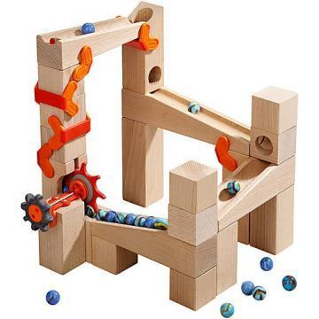 HABA Basic Pack Ball Track Tower Shaft blocks