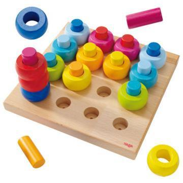 HABA Pegging Game Rainbow Whirls toy