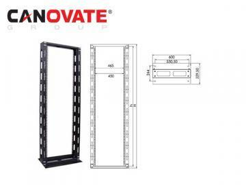 "Canovate 19"" Fixed Frame Open Rack 26U Cabinet"