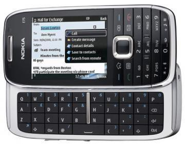Nokia E75-1 Silver Black mobile phone