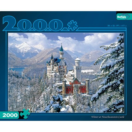Buffalo Games Winter Neuschwanstein Castle 2000 Piece Puzzles