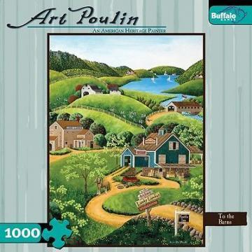 Buffalo Games To the Barns 1000 Pieces Art Poulin Puzzles