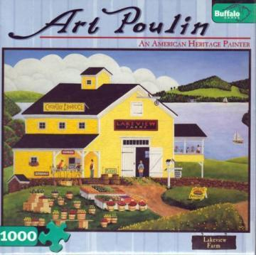 Buffalo Games Lakeview Farms 1000 Pieces Art Poulin Puzzles