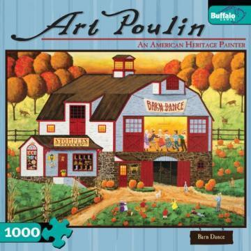 Buffalo Games Barn Dance 1000 Pieces Art Poulin Puzzles