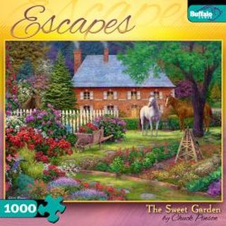 Buffalo Games The Sweet Garden 1000 Pieces Escapes Puzzles