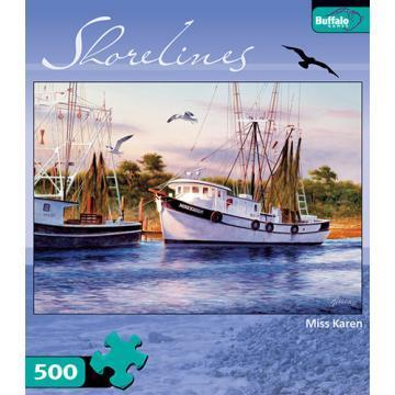 Buffalo Games Miss Karen 500 Pieces Shorelines Puzzles