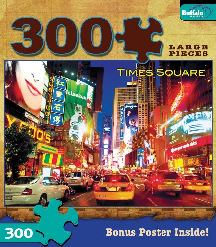 Buffalo Games Times Square 300 Pieces Travel Puzzles