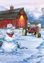 Buffalo Games Country Snowman 300 Pieces Large Puzzles
