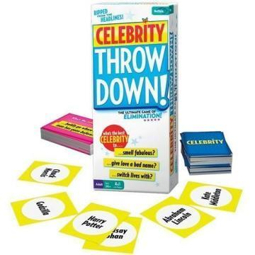 Buffalo Games Celebrity Throw Down Party Game