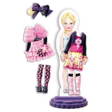 Quercetti Fashion Design Mya magnetic dress-up doll