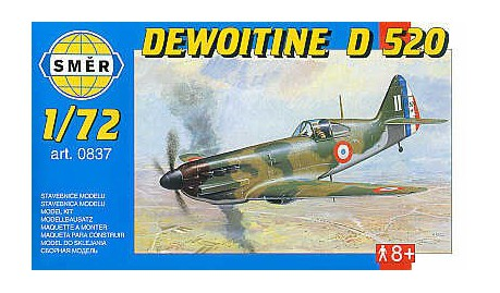 SMER Dewoitine D 520 scale model