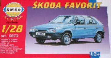 SMER Skoda Favorit KlikKlak scale model