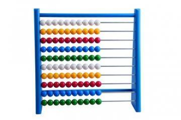 DETOA Abacus Wood And Plastic blue toy
