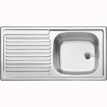 Blanco BLANCOTOP EES 8 x 4, sink stainless steel nature finish
