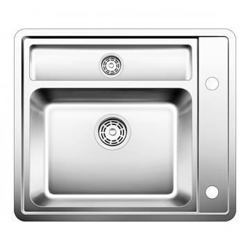 Blanco BLANCOSTATURA 6-IF, flush mount inset sink, stainless steel satin polish