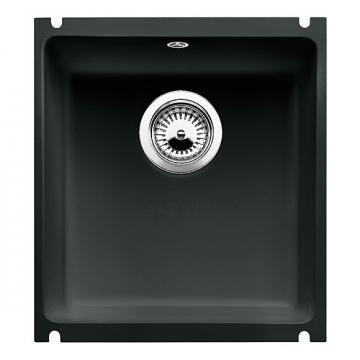 Blanco BLANCOSUBLINE 375-U, undermount sink, ceramic PuraPlus, black