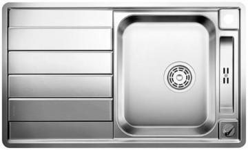 Blanco BLANCOAXIS II 45 S-IF sink, stainless steel satin polish