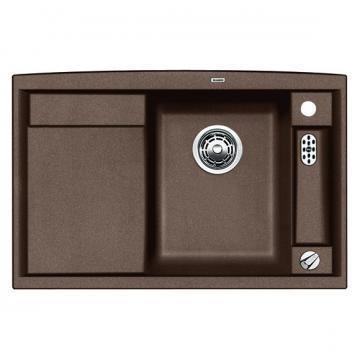 Blanco BLANCOAXIA II 45 S-F flush mount inset sink, coffee, SILGRANIT