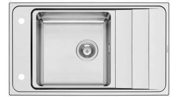Pyramis STUDIO (86X50) 1B 1D REV Stainless Sink