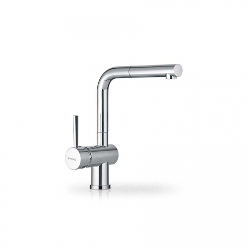 Pyramis ALADIA mixer tap with ceramic disk mechanism and extractable shower