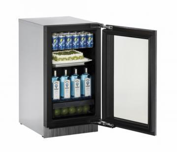 U-Line Glass Door Refrigerator 3018RGL