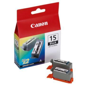 Canon BCI-15BK Black Ink 2-pack