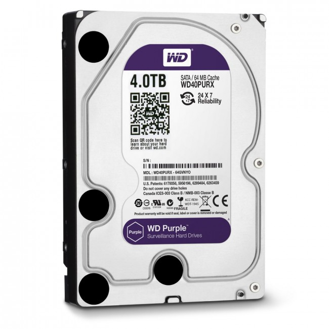 WD Purple 4TB IntelliPower SATA HDD
