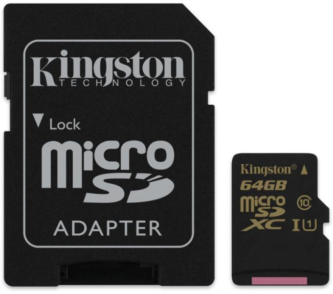 Kingston 64GB Microsdxc CL10 UHS-I