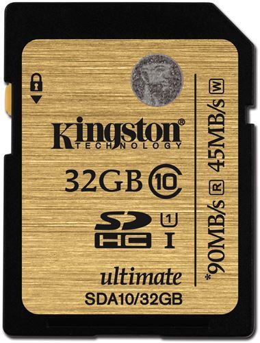 Kingston 32GB SDXC Class 10 UHS-1 Ultimate