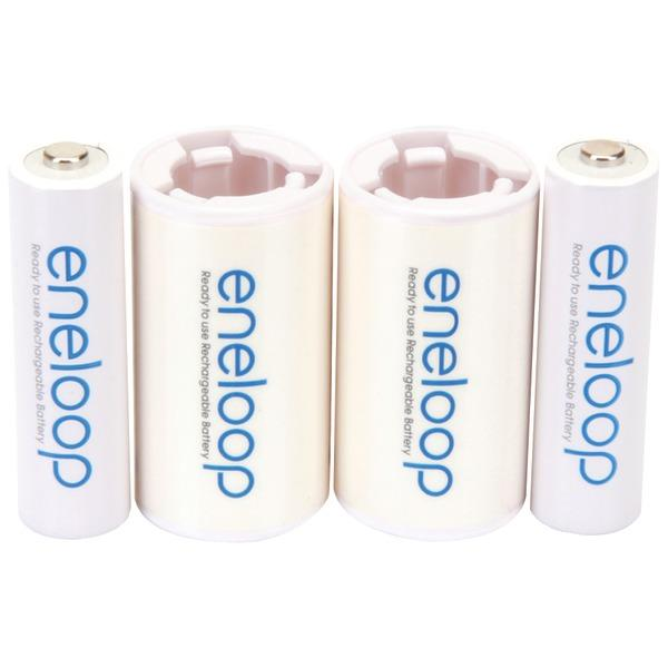 Panasonic Eneloop 2AA Battery Plus 2C Spacer Kit