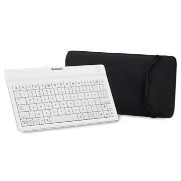 Verbatim Ultra-Slim Keyboard-Bluetooth White
