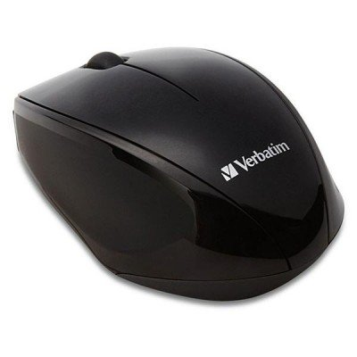 Verbatim Multi-Trac Wireless Black Optical Blue LED Mouse