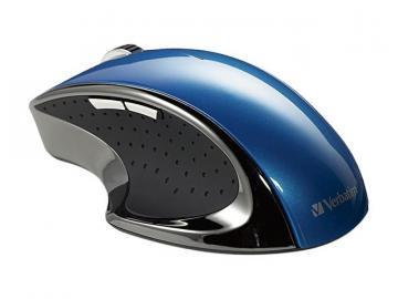 Verbatim Wireless Desktop Blue Ergo Mouse
