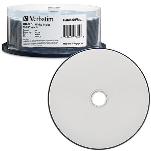 Verbatim 25-Pack Blu-Ray 50GB-6x Inkjet Print Spindle