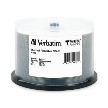 Verbatim MediDisc CD-R 52x 700MB Printable 50-Pack