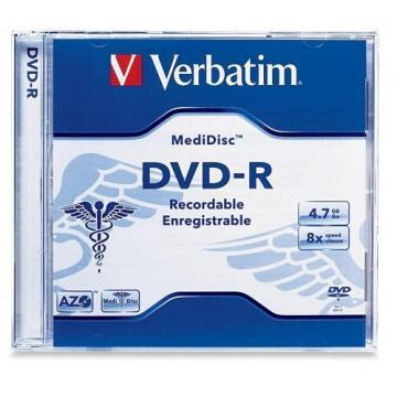 Verbatim 1-pack DVD-R 8x 4.7GB Medidisc Thermal Printable