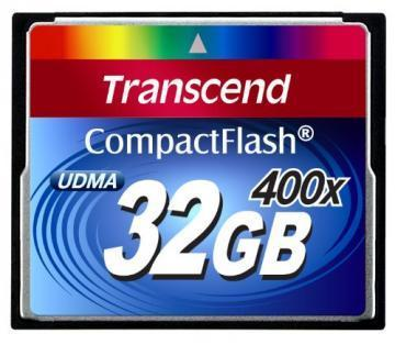 Transcend Premium 32GB CF 400x Flash Memory