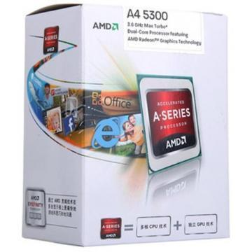AMD A4-5300 APU Dual Core Processor Socket FM2 3.4GHZ