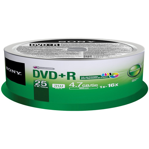Sony DVD+R 4.7GB 16X 25-pack Spindle
