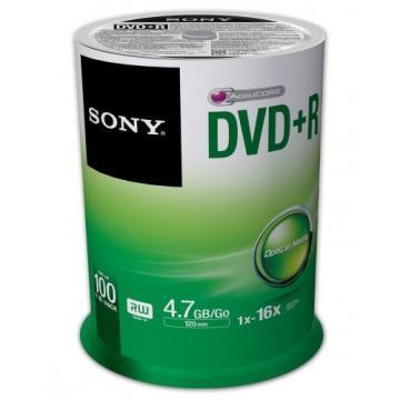 Sony DVD+R 4.7GB 16X 100-pack
