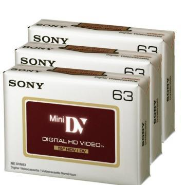 Sony Mini DV 63 Min HD 3-pack Brick Pack