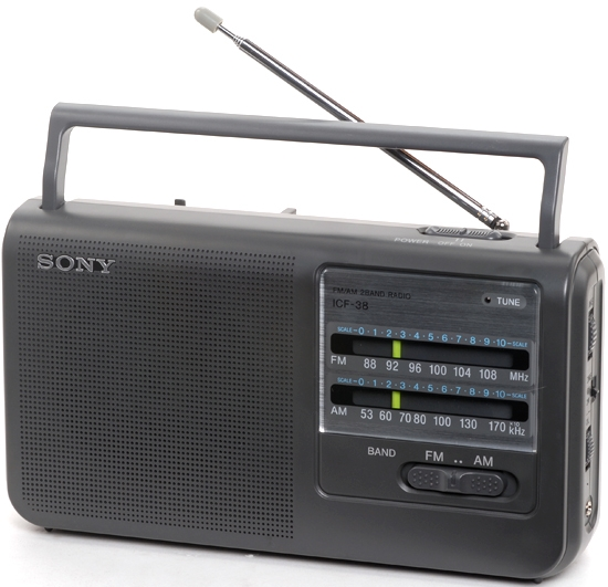 Sony ICF-38 Portable AM/FM Radio