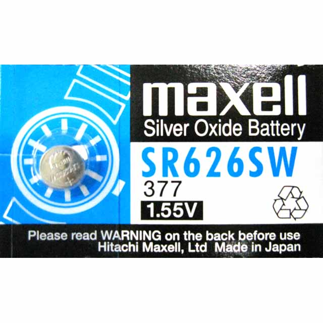Maxell SR626SW Silver Oxide 1.55V Watch Battery