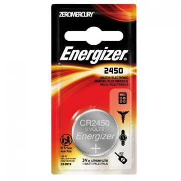 Energizer CR2450 Lithium Manganese Dioxide 3V Battery