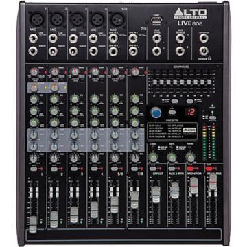 ALTO LIVE802 8 Channel Mixer with Effects & USB