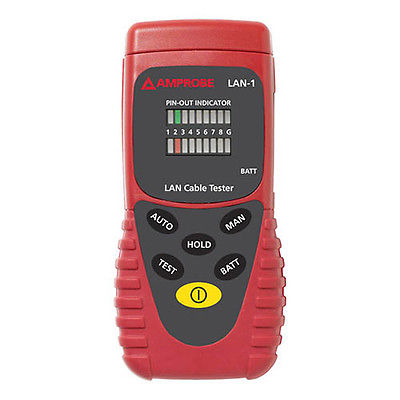 Amprobe LAN-1 LAN Cable Tester with Buzzer Sound / LED