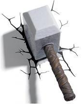 3DlightFX 3D LED Wall Mountable Thor Hammer Light