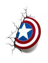 3DlightFX 3D LED Wall Mountable Captain America Shield