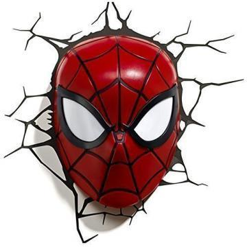 3DlightFX 3D LED Wall Mountable Spiderman Mask